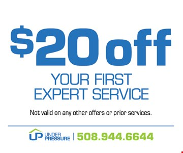 $20 off Your first expert service