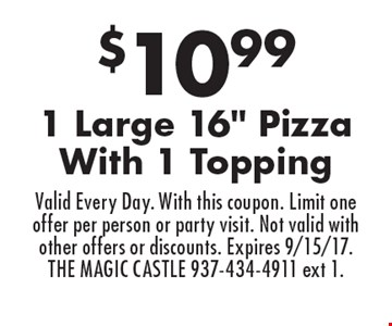 $10.99 1 Large 16