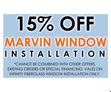 15% Off Marvin Window Installation