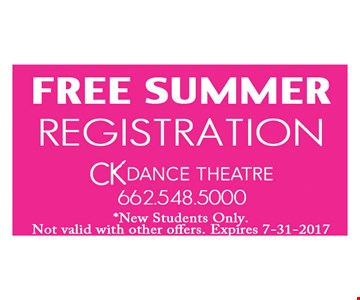 Free summer registration