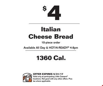 $4 italian cheese bread