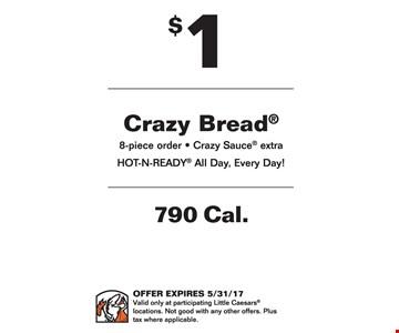 $1 crazy bread