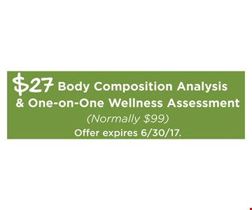 $27 body composition analysis