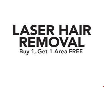 FREE LASER HAIR REMOVAL Buy 1, Get 1 Area. Restrictions may apply. Only valid with Clipper coupon. Call for details. Expires 6/16/17.