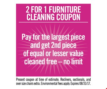 Teasdale Fenton Carpet Cleaning 2 For 1 Furniture Coupon Pay The Largest Piece
