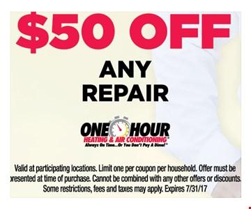 $50 off any repair