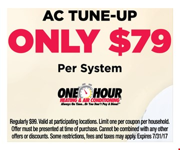 AC tune-up only $79 per system
