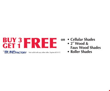 Buy 3 Get 1 Free on Cellular Shades, 2