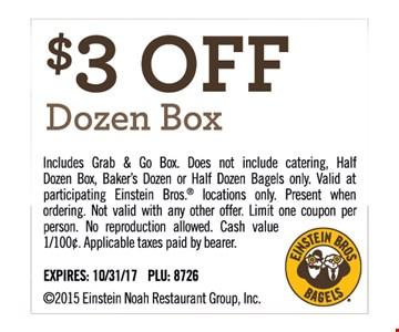 $3 Off Dozen Box