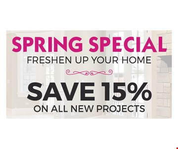 Save 15% On All New Projects