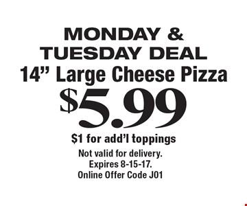 Monday & Tuesday Deal: 14