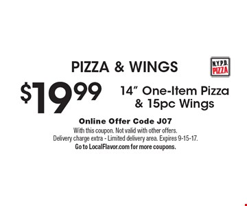 PIZZA & WINGS $19.99 14