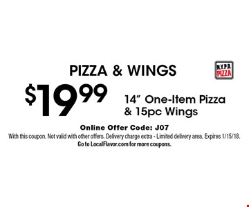 PIZZA & WINGS $19.99 - 14