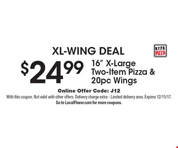 XL-WING DEAL $24.99 for 16