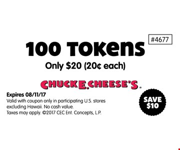 100 tokens100 tokens only .20