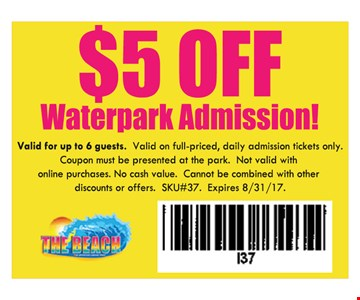 $5 off waterpark admission