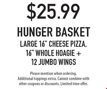 $25.99 hunger basketlarge 16