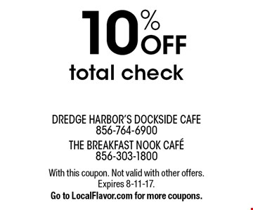 10% OFF total check. With this coupon. Not valid with other offers. Expires 8-11-17. Go to LocalFlavor.com for more coupons.
