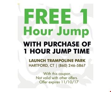 FREE 1 hour jump with purchase of 1 hour jump time.