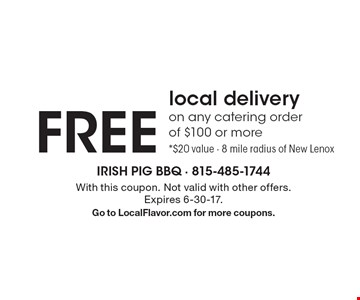 Graduation Catering Special – 10% off any catering order of $100 or more. With this coupon. Not valid with other offers. Expires 6-30-17. Go to LocalFlavor.com for more coupons.