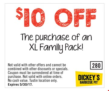 $10 Off XL Family Pack