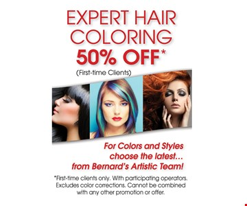 50% off Expert Hair Coloring
