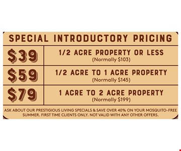Special Introductory Pricing