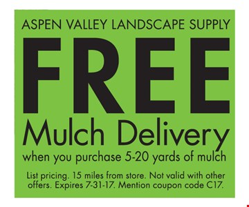 Free Mulch Delivery