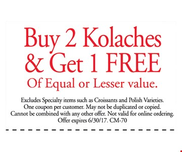 Buy 2 Kolaches and get 1 free