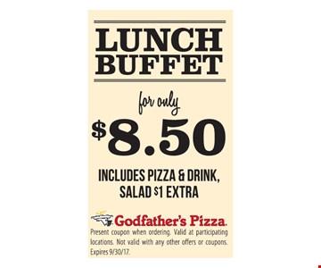 $8.50 Lunch Buffet