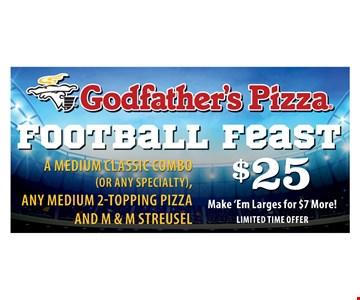 Football Feast $25