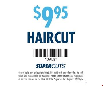 $9.95 Haircut