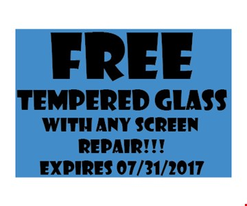 Free tempered glass