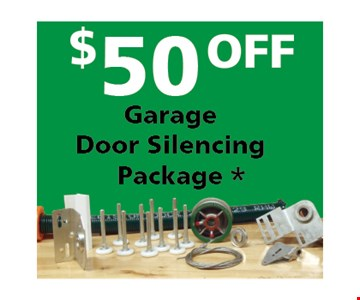 $50 Off Garage Door Silencing Package