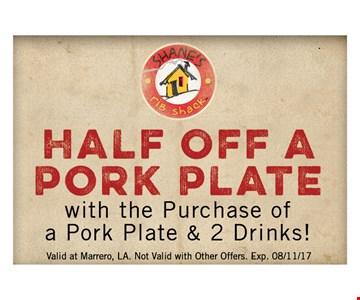 Half off a pork plate
