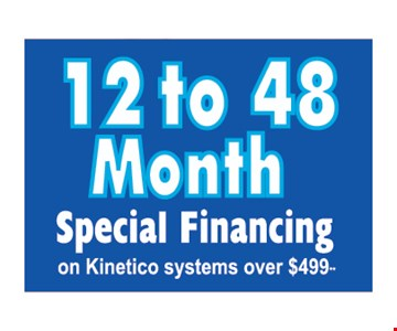 12 to 48 month special financing
