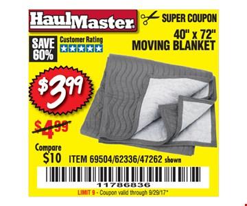 $3.99 moving blanket