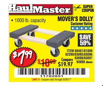 $7.99 mover's dolly