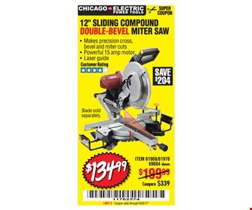 $134.99 sliding compound miter saw