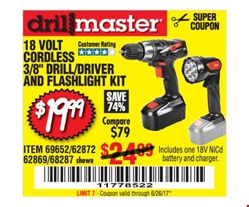 $19.99 cordless drill