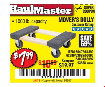 $7.99 movers dolly