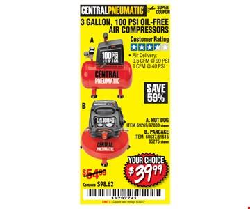 $39.99 air compressors