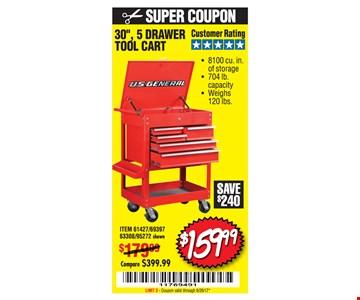 $159.99 Tool cart