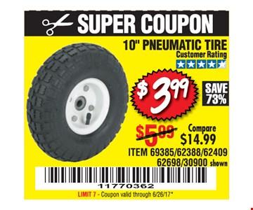 $3.99 pneumatic tire
