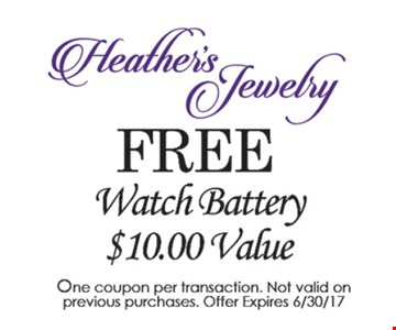 Free watch battery.