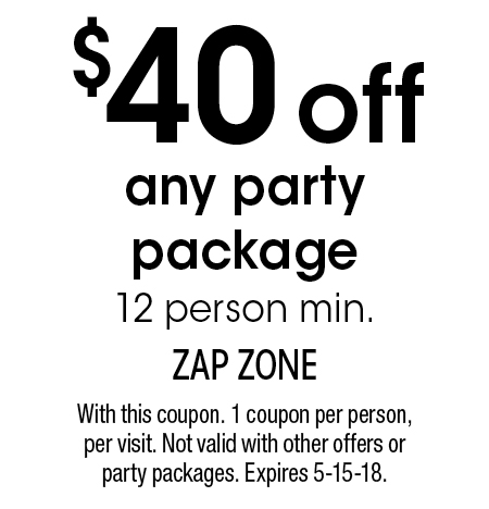 image regarding Zap Zone Printable Coupons referred to as Zap zone discount codes / Andres cuban cafe san diego