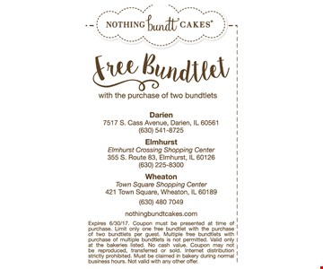 Free bundlet with the purchase of two bundlets.