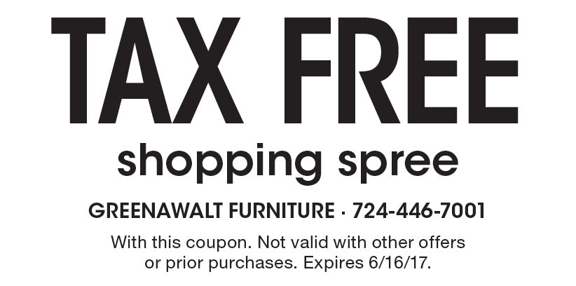 Greenawalt Furniture: Tax Free Shopping Spree. With This Coupon. Not Valid  With Other