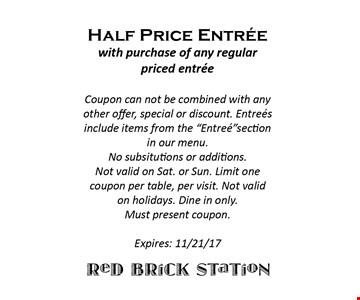 Half price entree