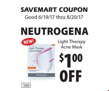 $1.00 off Neutrogena Light Therapy Acne Mask. SAVEMART COUPON Good 6/19/17 thru 8/20/17